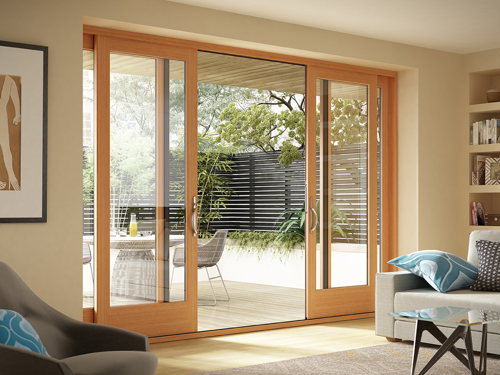 Milgard Essence Series sliding door from Brennan Enterprises, Dallas, Texas.