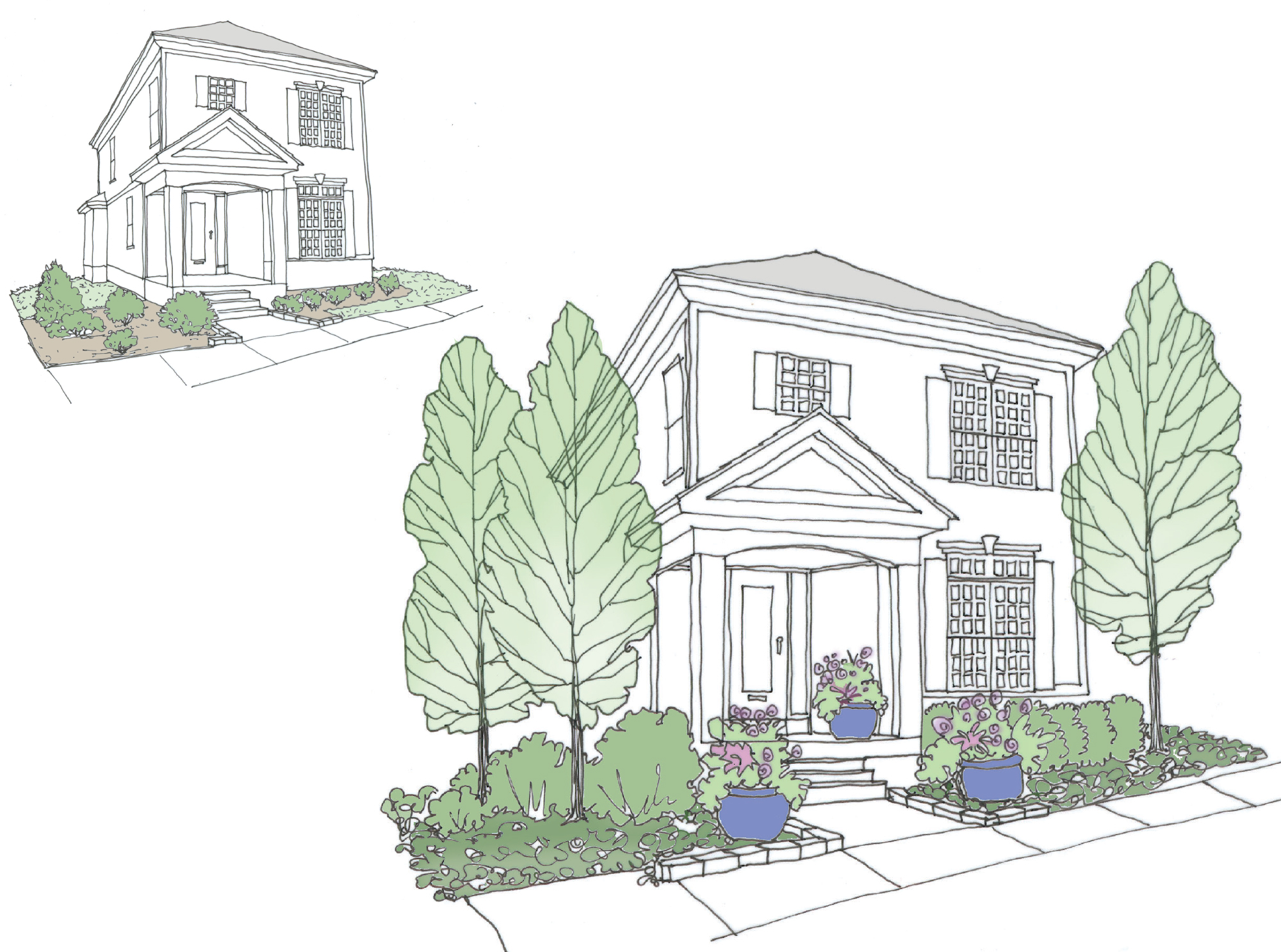 vertical design elements to improve curb appeal