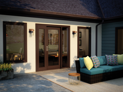 Milgard Tuscany French Patio Doors from Brennan Enterprises in Dallas, TX.
