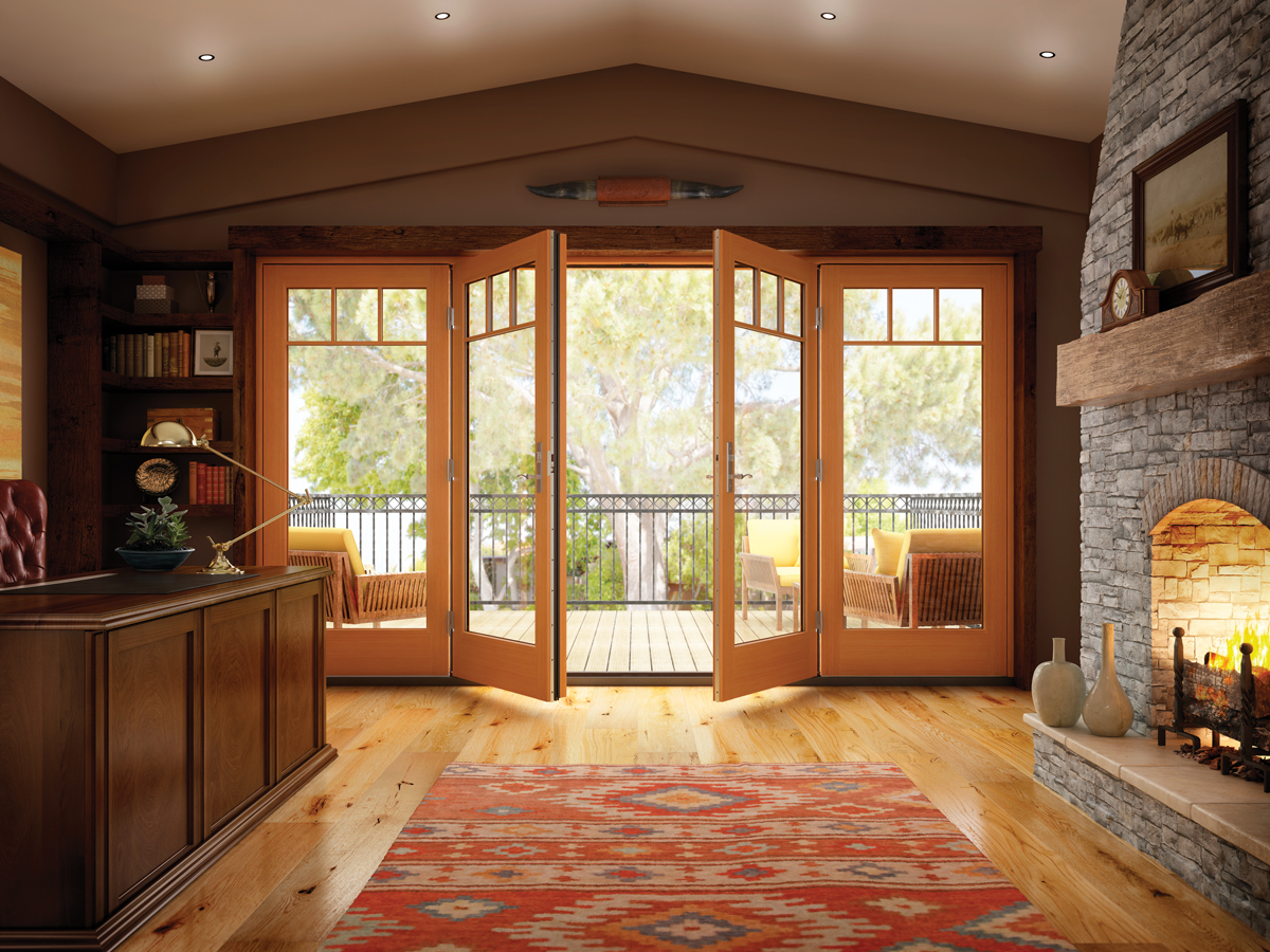 Milgard Essence French Patio Doors by Brennan Enterprises, Dallas, Texas.
