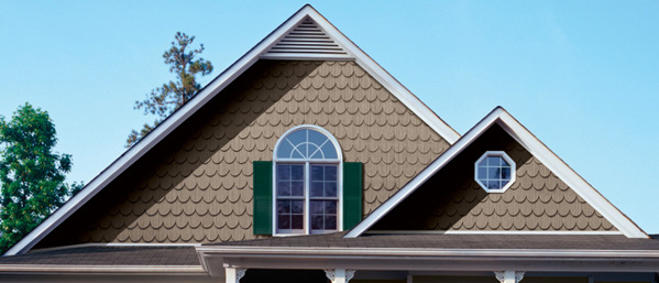 Gables with half-round (scalloped) siding