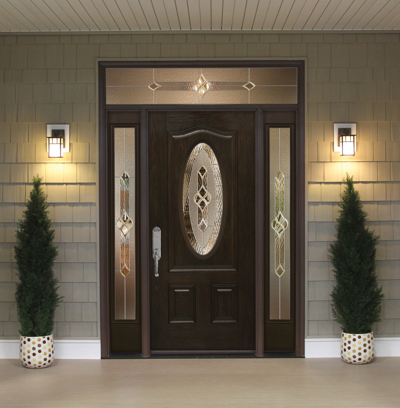 ProVia Signet Fiberglass Front Door from Brennan Enterprises in Dallas, TX.