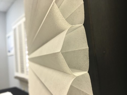 Example of honeycomb shape of cellular shades