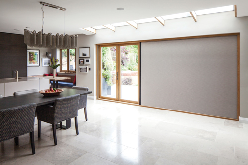 Centor Integrated Door with retractable shade.