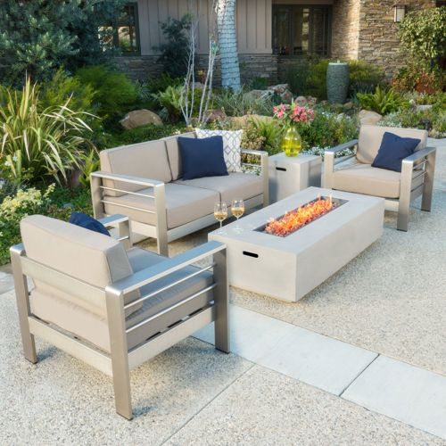 Roman Outdoor 5-Piece aluminum patio set from Pier 1 Imports