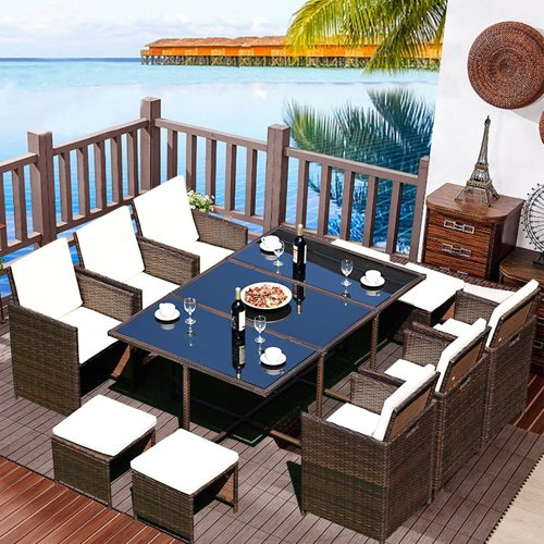 Tangkula 11-piece dining set from Amazon