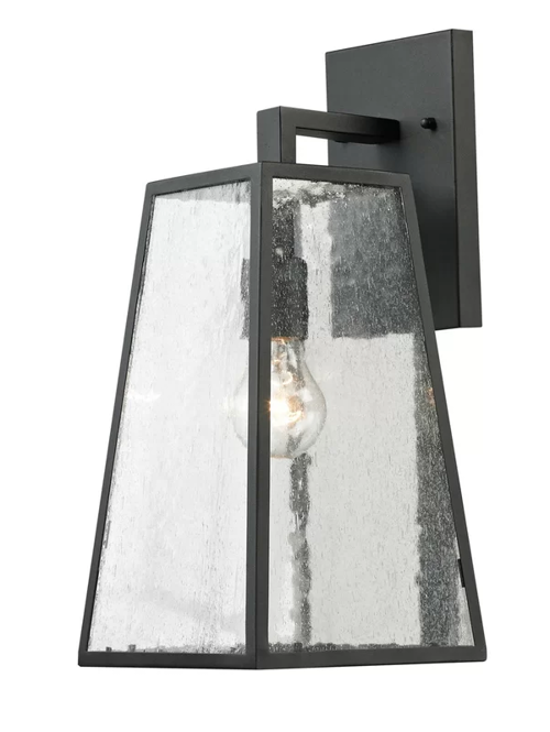 Matte black steel sconce from Joss and Main