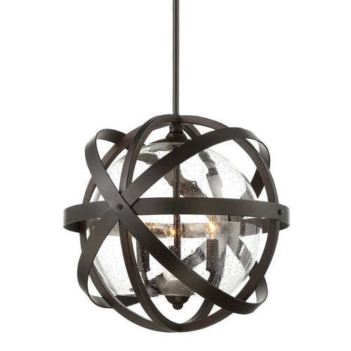 Strapped globe pendant light from Shades of Light