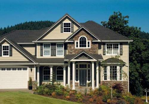 Combining stone and siding creates a fun and unique look for your home's exterior.