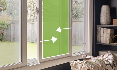Slider windows are easy to operate and slide left to right. | Brennan Enterprises, Dallas, Texas.