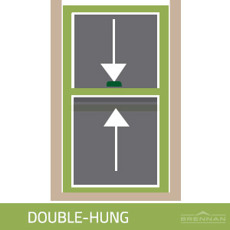 Double-hung window illustration