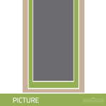 Illustration of a picture window. A picture window has a fixed sash meaning it does not open.