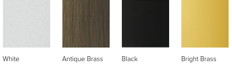 Andersen 200 series hardware finishes