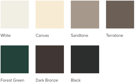 Andersen 400 Series window exterior paint colors