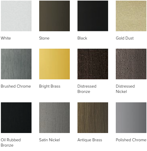 Andersen A Series and 400 Series hardware finishes