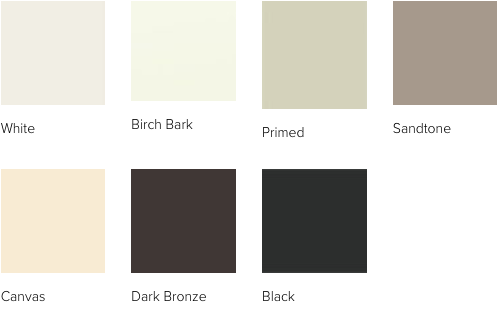 Andersen A Series  window interior paint colors
