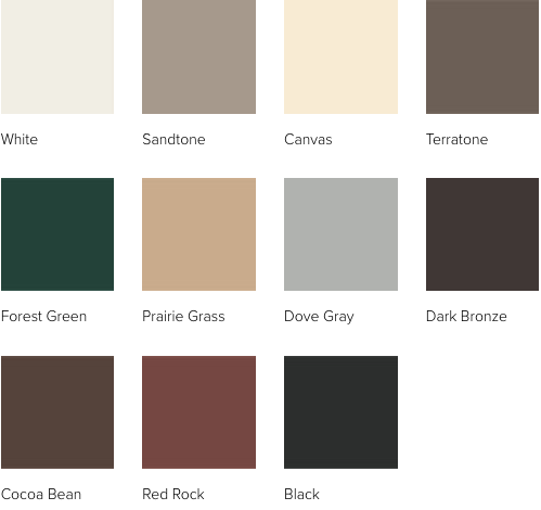 Andersen A Series  window exterior colors