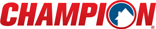 Champion Windows is one of the best window replacement companies in the Coppell area. Image of Champion Windows logo.