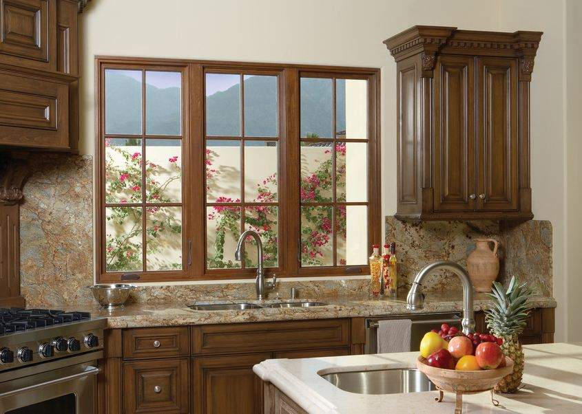 Casement windows are typically tall but they can fill a wide space with the right arrangement.