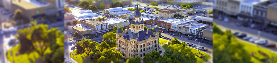 City of Denton, city center.