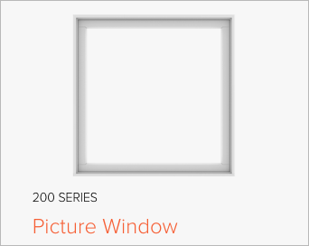 Image of Andersen's 200 Series Picture Window, image from Andersen Windows and Doors.