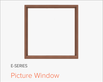 Image of Andersen E-Series Picture window, image from Andersen Windows and Doors.