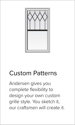 Example of Custom Patterns grilles from Brennan Enterprises's partner Andersen Windows and Doors.