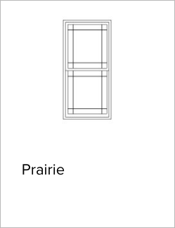 Illustration of Andersen's Prairie style window grilles. Image from Brennan Enterprises's partner, Andersen Windows and Doors.