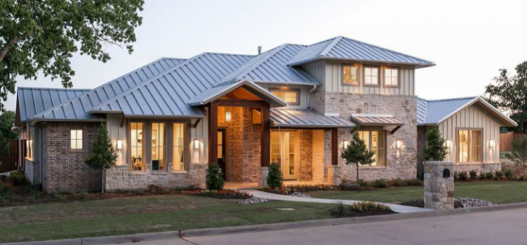 Sterling Brook designed home in Oak, Texas. This home was constructed with Energy Star certified products including Milgard windows.