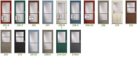 ProVia Spectrum Storm Doors are available in a wide range of styles and colors so that you can find the perfect one to fit your home's aesthetic.