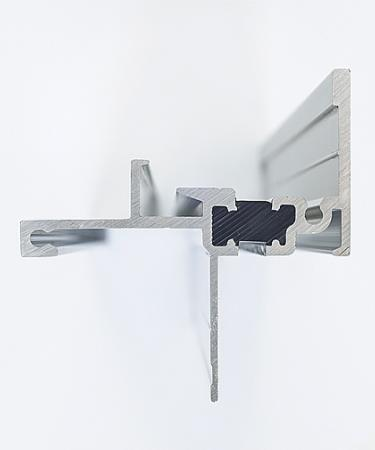 Thermally broken aluminum windows have a plastic channel to reduce thermal transfer.