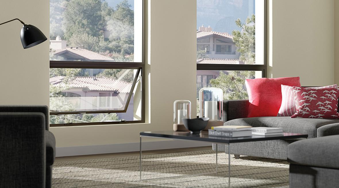 Milgard Aluminum Windows in black create a sleek modern design that allow you to maximize your views.