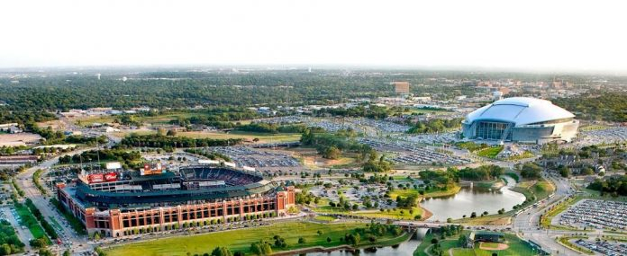 Arlington is a central hub for business and Dallas-Fort Worth sports.
