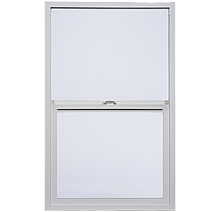 Image of Milgard Aluminum single hung window. The single hung window is made of vinyl and has a slim frame.