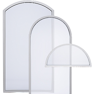 Milgard Style Line specialty shape windows.