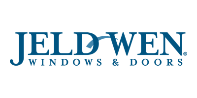Logo for Jeld-Wen windows and doors.