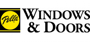 Pella Windows & Doors logo.