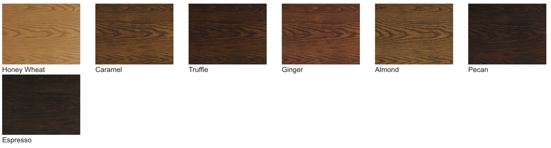 ProVia Signet fiberglass doors are available in 7 stains for the Oak, Knotty Alder, and Fir series.