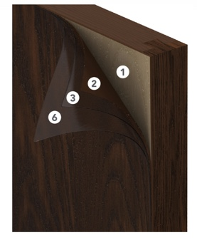 ProVia Signet's door stains are applied in seven steps ensuring the longest lasting color for your fiberglass door.