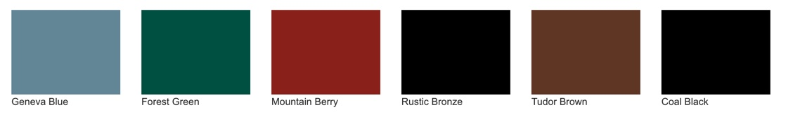 Nine bold paint colors are available for ProVia Signet fiberglass doors.