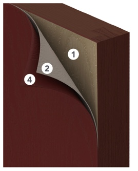ProVia Signet fiberglass doors are painted in a seven layer process to ensure the color lasts for the lifetime of your door.