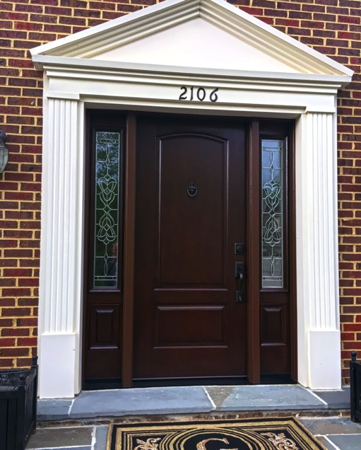 ProVia Signet fiberglass front doors are notable for their realistic wood appearance.