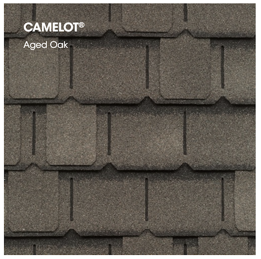 Camelot II swatch in aged oak.