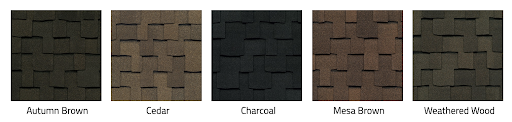 GAF Designer shingles in neutral colors.