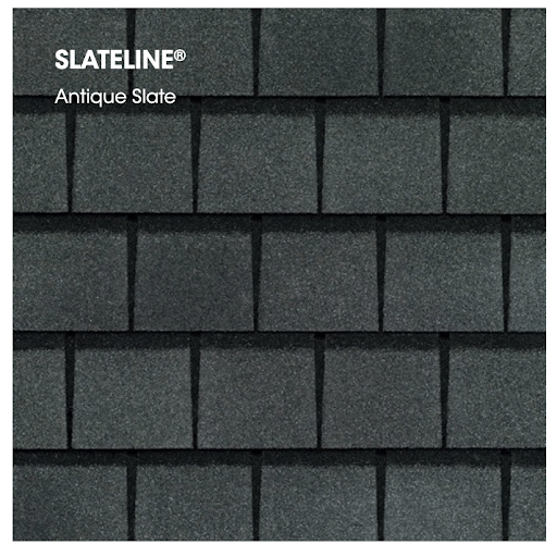 Slateline shingle sample in antique slate.