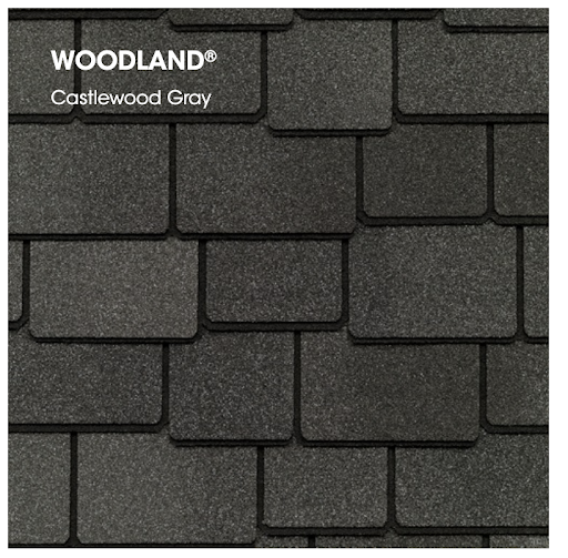 Woodland asphalt shingles in Castlewood Gray.