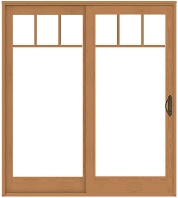 sliding glass door with french door style rails